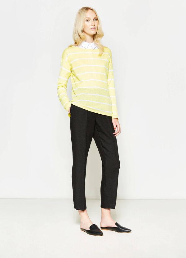 Pantalón tobillero con pliegue | OVS