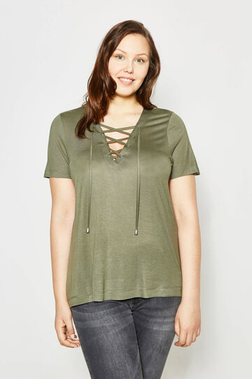 Curvy T-shirt with laces