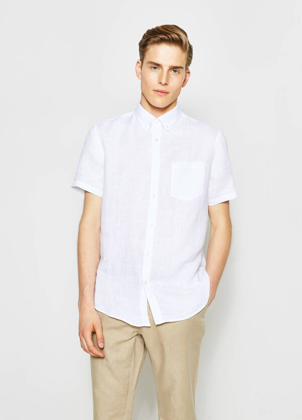 Regular-fit casual shirt with small pocket | OVS