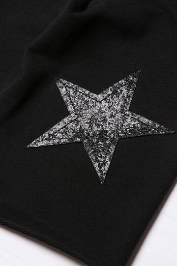 Beanie cap with glitter, Black, hi-res