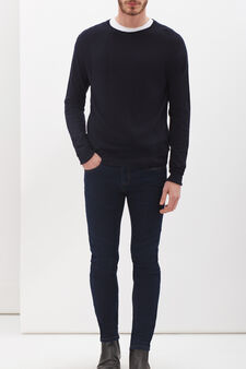 G&H pullover in angora blend, Navy Blue, hi-res