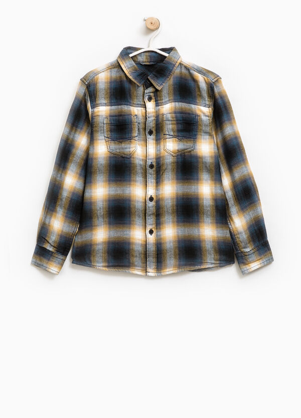 Camicia puro cotone a quadri | OVS