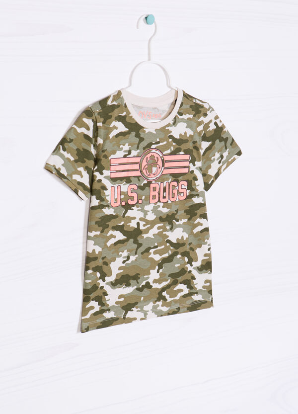 T-shirt puro cotone camouflage | OVS