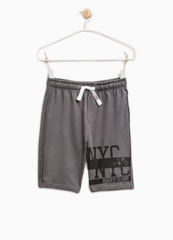 Printed Bermuda shorts in 100% cotton | OVS