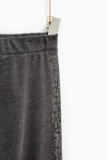 Smart Basic leggings with diamanté design, Dark Grey Marl, hi-res