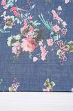 Floral print chiffon scarf, Navy Blue, hi-res