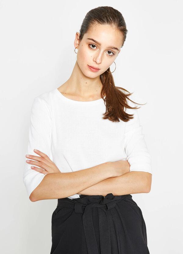 Camiseta con mangas tres cuartos | OVS