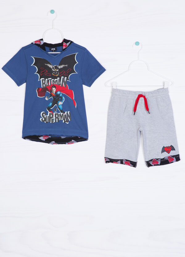 Cotton outfit with superhero print | OVS