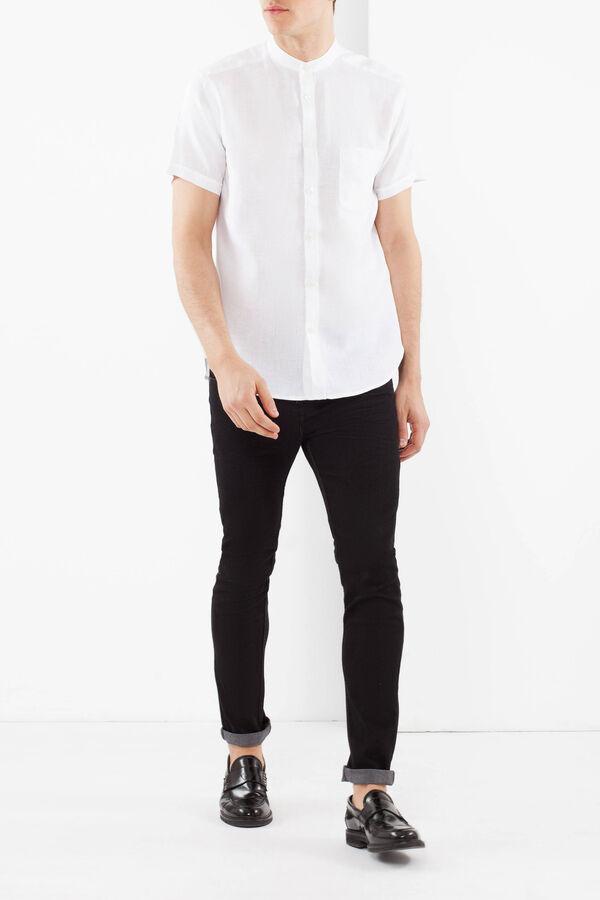 Linen shirt with Mandarin collar | OVS