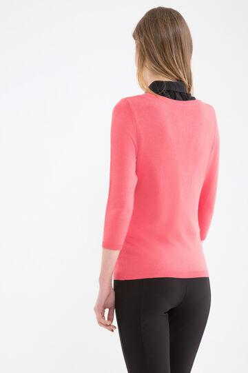 Cardigan tricot misto cotone, Rosa, hi-res