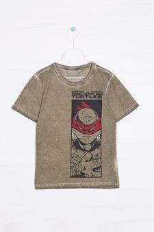 Teenage Mutant Ninja Turtle T-shirt in 100% cotton, Green, hi-res