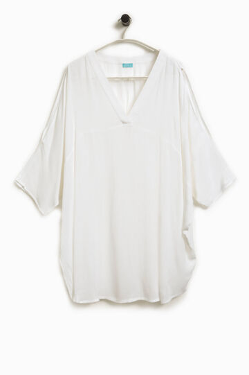 Kaftan with three-quarter sleeves, White, hi-res