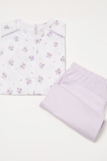 Curvy 100% cotton floral pyjamas