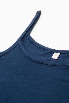 Two-pack solid colour vest tops, Blue/Grey, hi-res