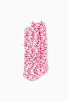 Patterned slipper socks, Fuchsia, hi-res