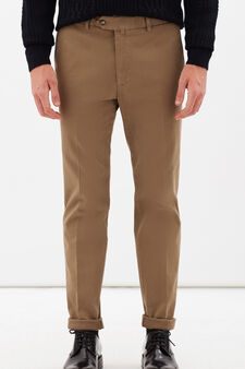 Rumford stretch cotton trousers, Beige, hi-res