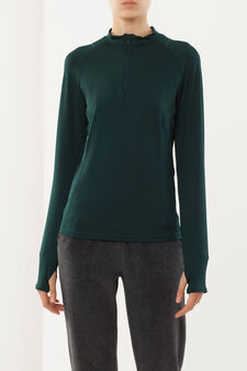 Long-sleeved sports T-shirt, Green, hi-res
