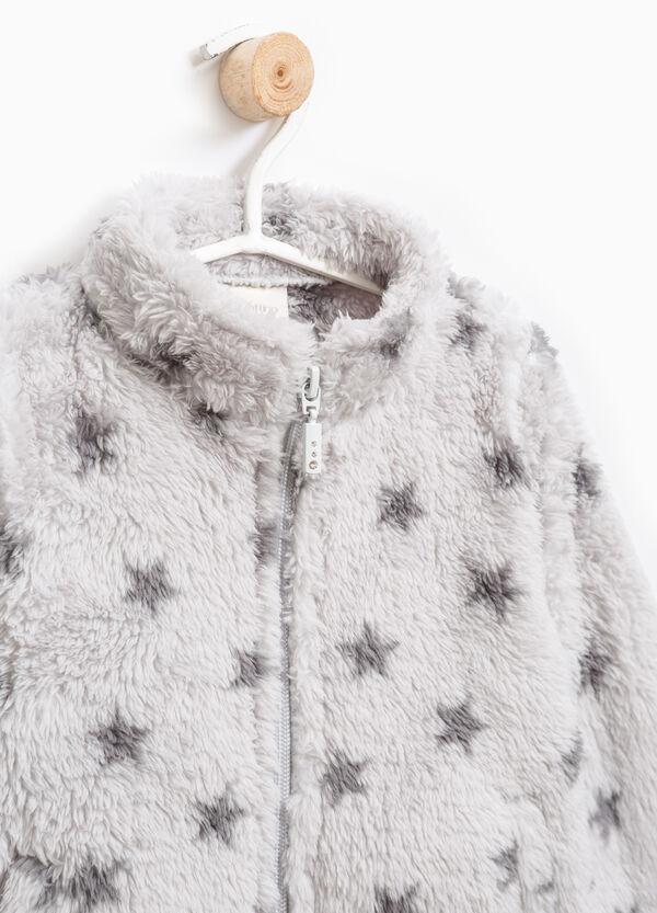 Faux fur sweatshirt with pattern | OVS
