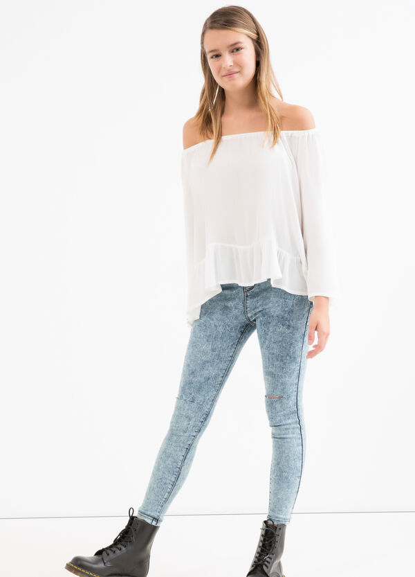 Teen blouse with boat neck | OVS