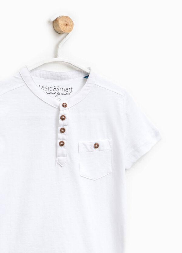 Cotton polo shirt with Mandarin collar | OVS