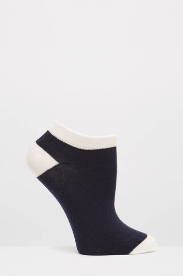 Set due paia di calze cotone stretch, Blu, hi-res