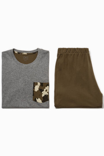 Pyjamas with camouflage pocket