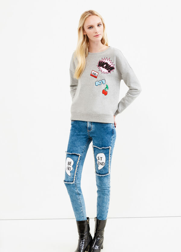 Stretch jeans with patches   OVS