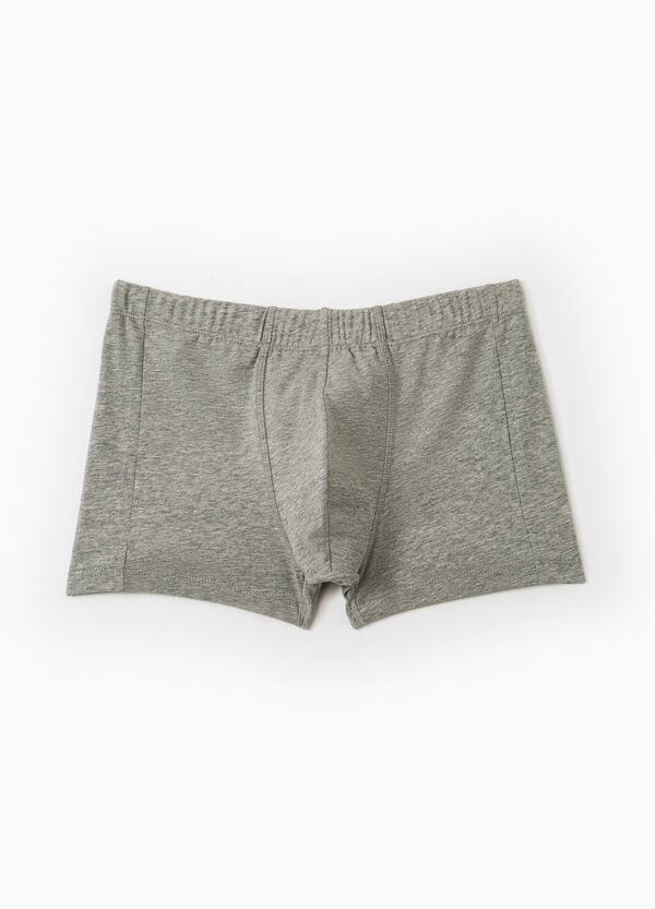 Solid colour stretch cotton boxer shorts | OVS