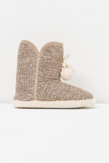 Slipper boots with sequins, Golden Yellow, hi-res