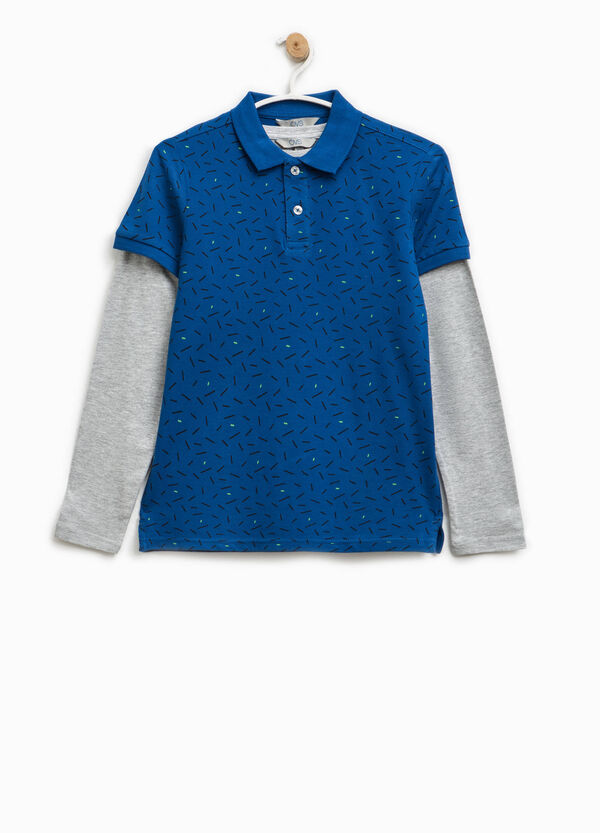 Polo shirt with long-sleeved T-shirt lining | OVS