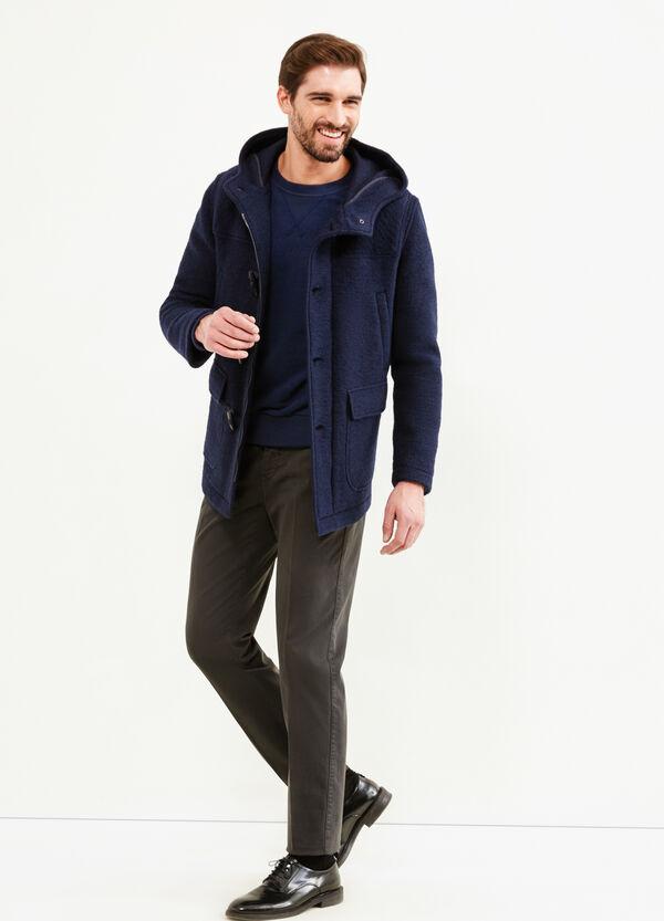 Abrigo Rumford en mezcla de lana con alamares | OVS