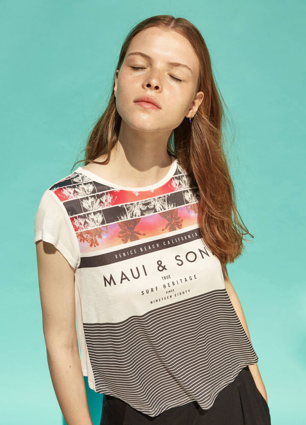 T-shirt crop stampata Maui and Sons | OVS