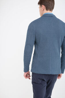 Rumford cotton blend jacket, Blue, hi-res