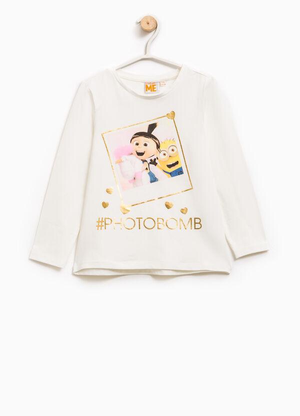 T-shirt with Minions glitter print | OVS
