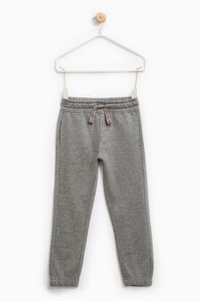 Joggers with elasticated waist and ankle cuffs, Grey Marl, hi-res
