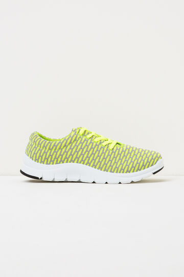 Sneakers with rubber sole, Lime Green, hi-res