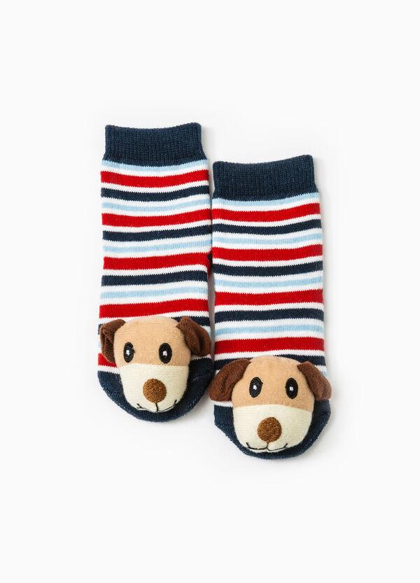 Stretch striped slipper socks | OVS