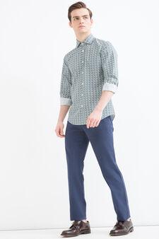 Camicia Rumford puro cotone, Verde, hi-res