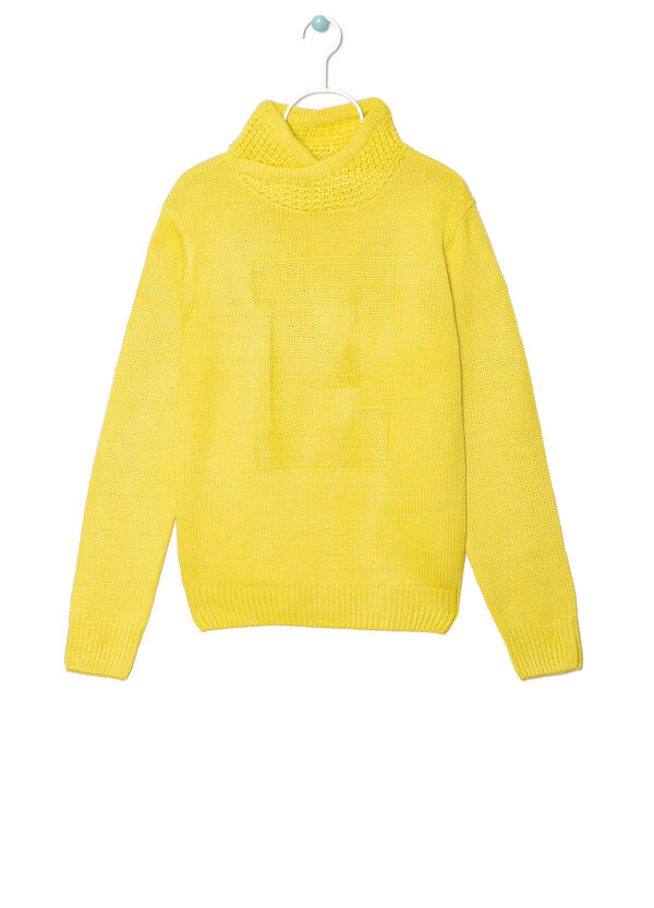 Plain knitted pullover. | OVS