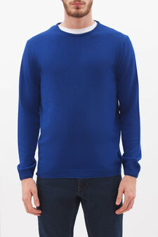 Crew neck pullover in silk and cashmere., Lavender, hi-res