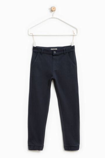 100% cotton chino trousers, Blue, hi-res