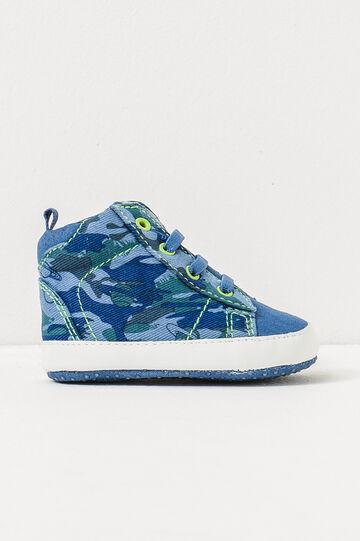 Camouflage print shoes, Blue, hi-res