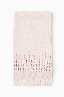 Solid colour scarf with diamanté, Pink, hi-res