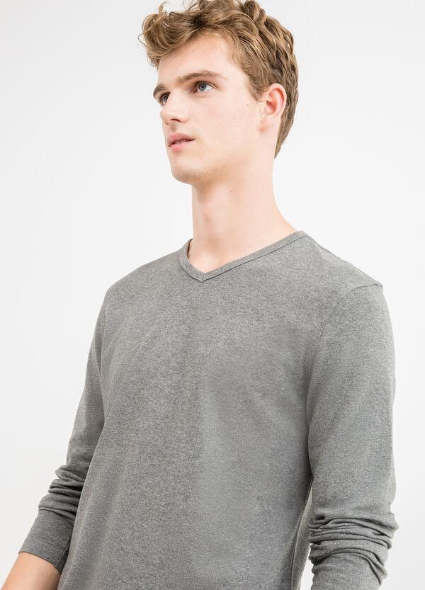 T-shirt maniche lunghe scollo a V | OVS