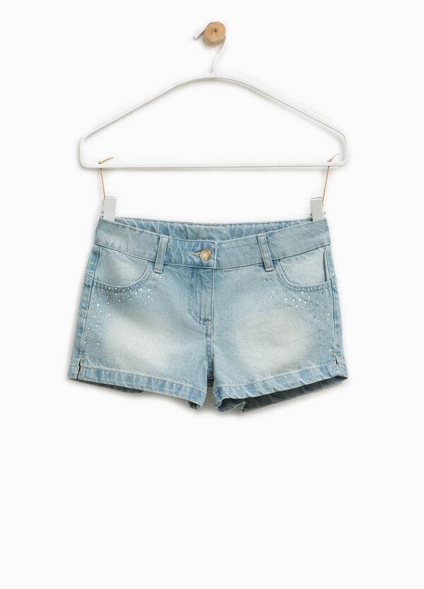 Denim shorts with diamantés | OVS