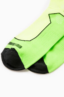 Two-pair pack OVS Active Sport Training stretch socks, Neon Green, hi-res