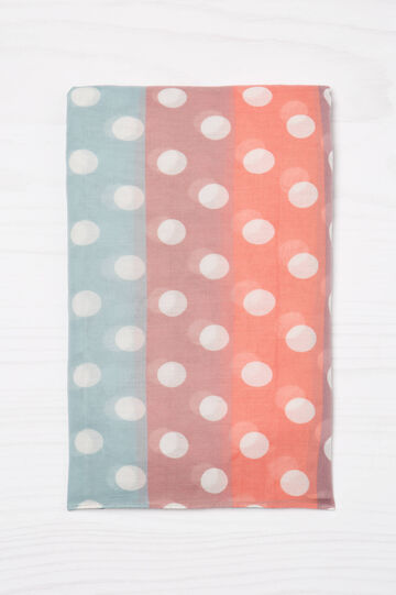Multicoloured print scarf, Multicolour, hi-res