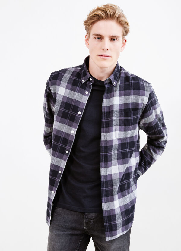 Casual shirt with chest pocket | OVS