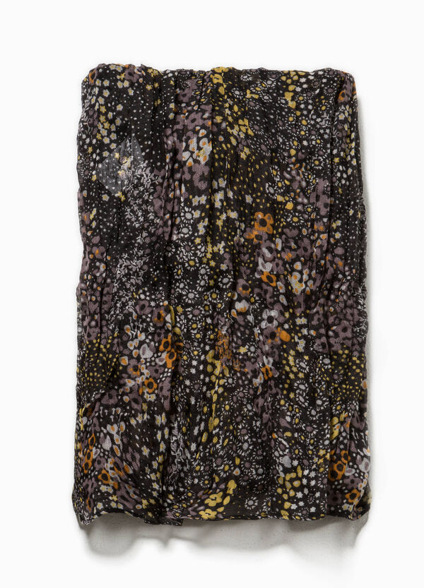 Creased effect floral scarf | OVS