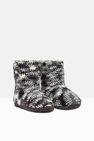 Knitted slipper boots, Multicolour, hi-res